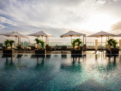 outdoor pool - hotel the canvas dubai mgallery htl collection - dubai, united arab emirates