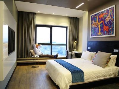 bedroom 1 - hotel room50two - gaborone, botswana