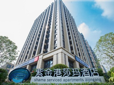 exterior view - hotel shama serviced apartments zijingang - hangzhou, china