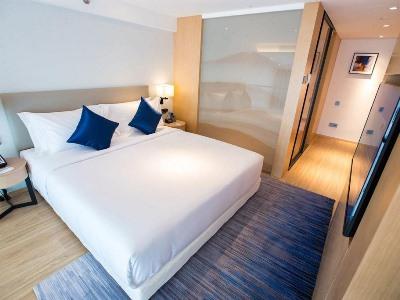 bedroom 1 - hotel shama serviced apartments zijingang - hangzhou, china