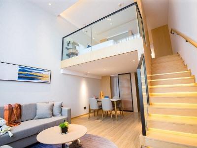 bedroom 2 - hotel shama serviced apartments zijingang - hangzhou, china