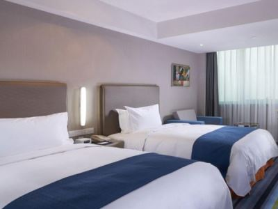 bedroom 1 - hotel holiday inn express hefei downtown - hefei, china