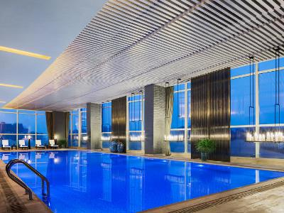 indoor pool - hotel wanda realm wuhu - wuhu, china
