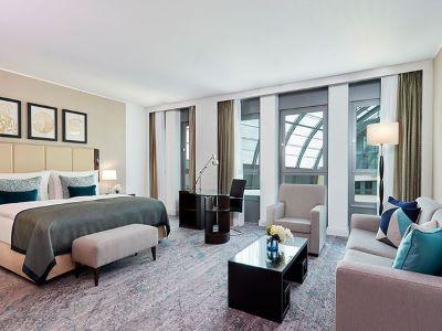 bedroom - hotel intercontinental duesseldorf - dusseldorf, germany