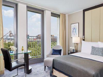 bedroom 3 - hotel intercontinental duesseldorf - dusseldorf, germany