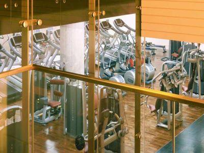 gym - hotel intercontinental duesseldorf - dusseldorf, germany