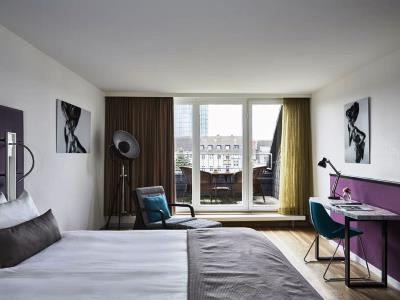 bedroom 1 - hotel indigo dusseldorf - victoriaplatz - dusseldorf, germany