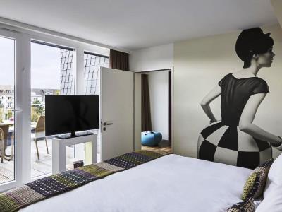 bedroom 3 - hotel indigo dusseldorf - victoriaplatz - dusseldorf, germany