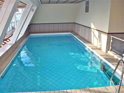 indoor pool - hotel savoy frankfurt - frankfurt, germany