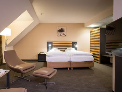 bedroom 1 - hotel lindner congress - frankfurt, germany