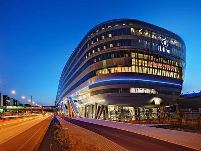 exterior view - hotel hilton frankfurt airport - frankfurt, germany