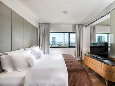 bedroom - hotel scandic frankfurt museumsufer - frankfurt, germany
