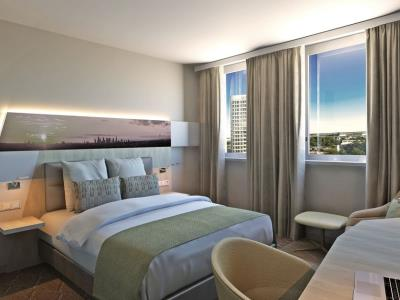 bedroom - hotel holiday inn frankfurt airport - frankfurt, germany