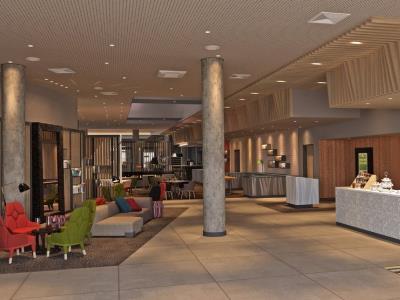 lobby 1 - hotel holiday inn frankfurt airport - frankfurt, germany