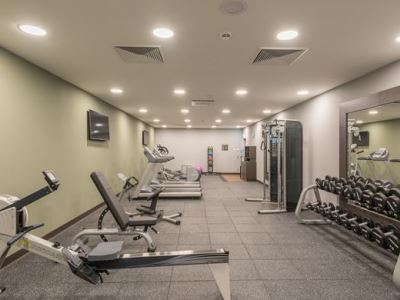 gym - hotel hilton garden inn frankfurt city centre - frankfurt, germany
