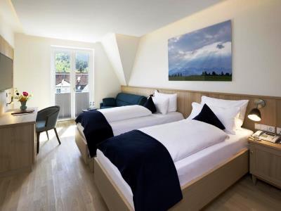 bedroom - hotel hirsch - fussen, germany