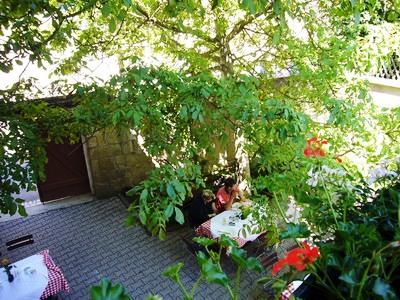 gardens - hotel schranne - rothenburg, germany