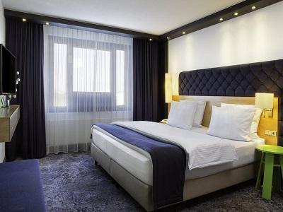 bedroom - hotel holiday inn stuttgart - stuttgart, germany