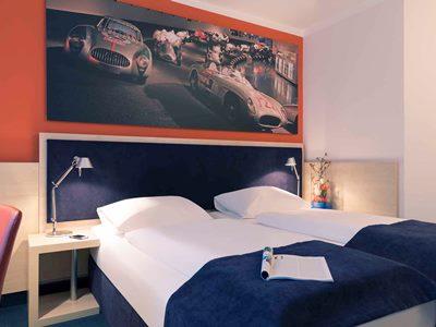 bedroom 1 - hotel mercure stuttgart city center - stuttgart, germany