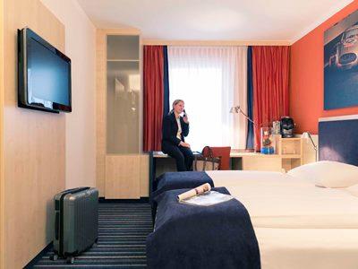 bedroom 2 - hotel mercure stuttgart city center - stuttgart, germany