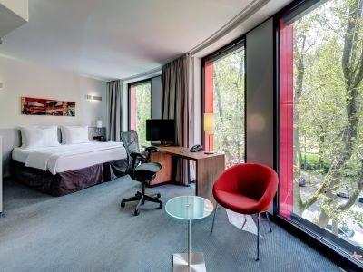 deluxe room - hotel hilton garden inn stuttgart neckarpark - stuttgart, germany