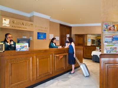 lobby - hotel senator gran via 70 spa - madrid, spain