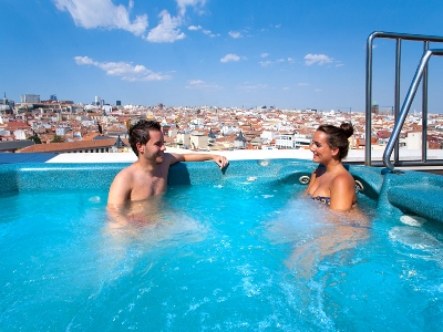 outdoor pool - hotel senator gran via 70 spa - madrid, spain