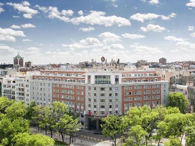 exterior view - hotel intercontinental - madrid, spain