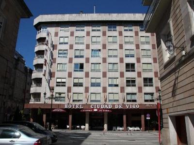 exterior view - hotel ciudad de vigo - vigo, spain