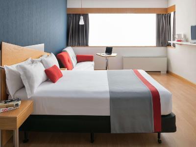 bedroom - hotel ramada by wyndham madrid tres cantos - tres cantos, spain