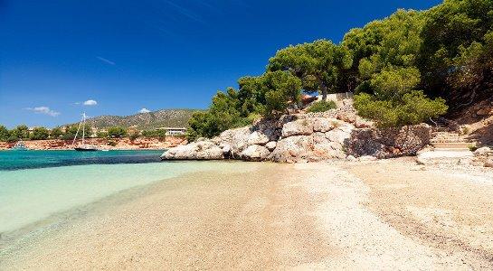 beach - hotel h10 punta negra - portals nous, spain