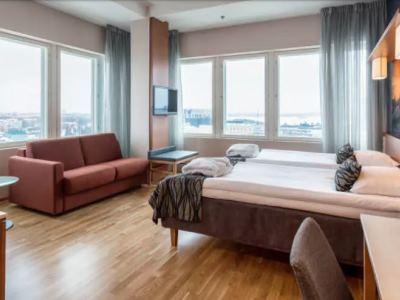 bedroom - hotel scandic meilahti - helsinki, finland