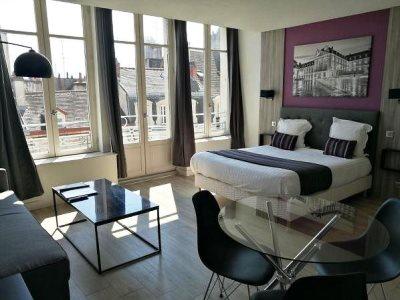 bedroom - hotel city loft - dijon, france