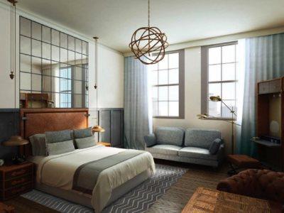bedroom 6 - hotel kimpton clocktower - manchester, united kingdom