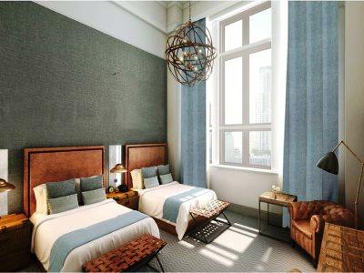 bedroom 7 - hotel kimpton clocktower - manchester, united kingdom