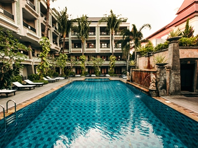 outdoor pool - hotel vira bali boutique hotel and suite - bali island, indonesia