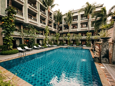 outdoor pool 1 - hotel vira bali boutique hotel and suite - bali island, indonesia