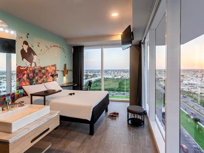 bedroom 1 - hotel ibis styles merida galerias - merida, mexico