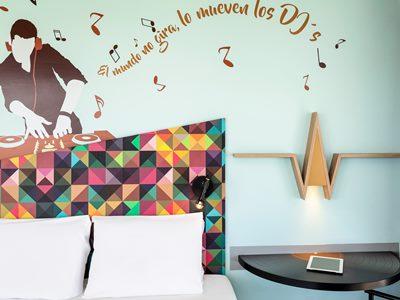 bedroom - hotel ibis styles merida galerias - merida, mexico