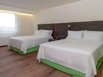 bedroom 1 - hotel holiday inn express mexico aeropuerto - mexico city, mexico