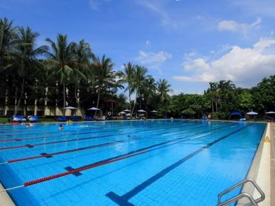 outdoor pool - hotel pacific sutera - kota kinabalu, malaysia