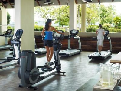 gym - hotel shangri-la's tanjung aru - kota kinabalu, malaysia
