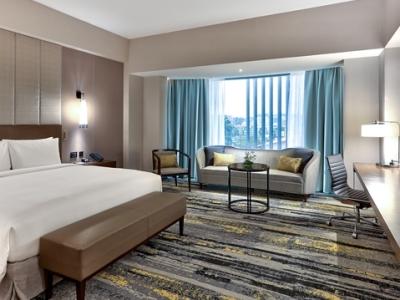 bedroom - hotel hilton kota kinabalu - kota kinabalu, malaysia
