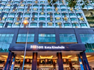 exterior view 1 - hotel hilton kota kinabalu - kota kinabalu, malaysia