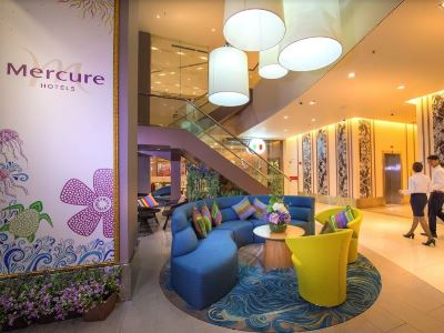 lobby 1 - hotel mercure kota kinabalu city centre - kota kinabalu, malaysia