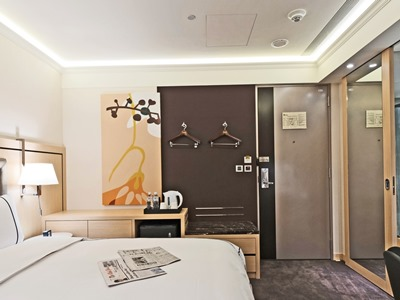 bedroom - hotel k hotel songjiang - taipei, taiwan