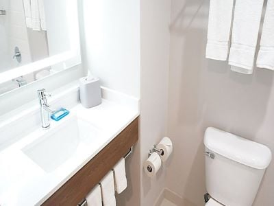 bathroom - hotel holiday inn exp suites milpitas central - fremont, california, united states of america