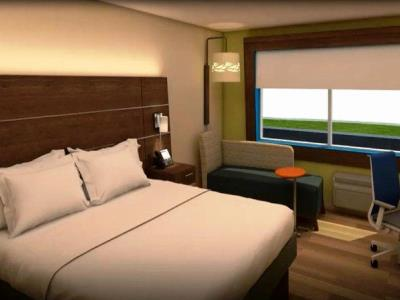 bedroom 1 - hotel holiday inn express fullerton - anaheim - fullerton, united states of america