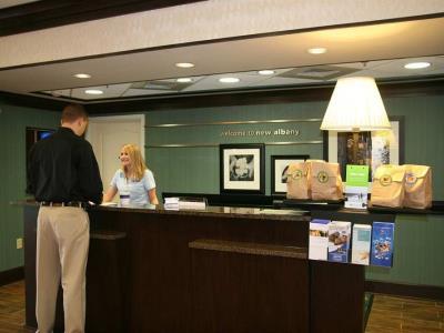 lobby - hotel hampton inn new albany - new albany, mississippi, united states of america