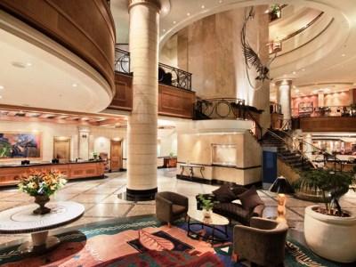 lobby - hotel hilton sandton - johannesburg, south africa